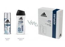 Adidas Adipure antiperspirant deodorant sprej pro muže 150 ml + sprchový gel 250 ml, kosmetická sada