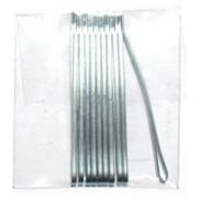 Duko Vlasové spony nikl-plochá 6 cm 10 kusů