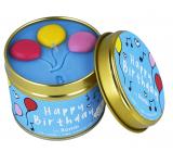 Bomb Cosmetics Všechno nejlepší - Happy Birthday Vonná přírodní, ručně vyrobena svíčka v plechové dóze hoří až 35 hodin