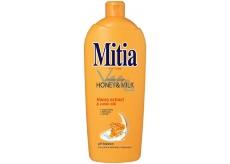 Mitia Honey & Milk tekuté mýdlo s medovými extrakty náhradní náplň 1 l