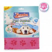 Spontex Pet Towel Microfibre ručník z mikrovlákna pro psy a kočky 40 x 80 cm 1 kus