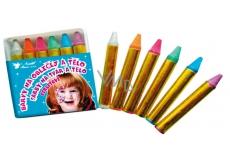 Barvy na obličej a tělo perleťové, smývatelné vodou a mýdlem 6 x 2,5 g