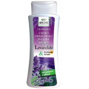 Bione Cosmetics Levandule & Panthenol Zjemňující čistící odličovací pleťové mléko 255 ml