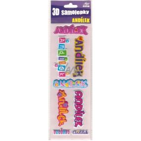 Nekupto 3D Samolepky se jménem Andílek 8 kusů 001