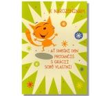 Albi Hrací přání do obálky K narozeninám Já mám ráda boogie Věra Špinarová 14,8 x 21 cm