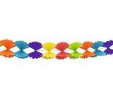 Girlanda papírová 300 x 23,5 cm - skládaná mašle barevná
