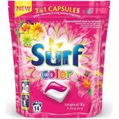 Surf Color Tropical Lily & Ylang Ylang 2v1 kapsle na praní barevného prádla 14 dávek