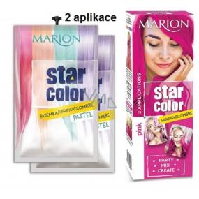 Marion Star Color smývatelná barva na vlasy Pink - Růžová 2 x 35 ml