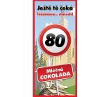 Bohemia Gifts & Cosmetics Mléčná čokoláda Vše nejlepší 80, dárková 100 g