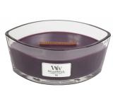 WoodWick Fig - Fík vonná svíčka s dřevěným širokým knotem a víčkem sklo loď 453 g
