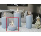 Lima Ice pastel svíčka světle modrá plovoucí čočka 70 x 30 mm 1 kus