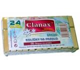 Clanax Kolíčky na prádlo dřevěné 24 kusů