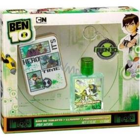 Cartoon Network Ben 10 toaletní voda 50 ml + Přívěšek na klíče + Tajná krabička, kosmetická sada