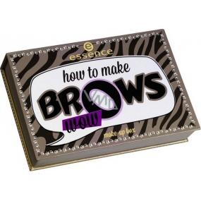 Essence How To Make Brows Wow Make-up Box paletka na úpravu obočí 1 kus