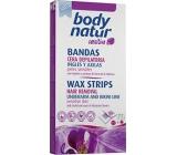 Body Natur Sensitive voskové pásky pro epilaci oblasti bikin a podpaží s výtažkem z orchideje 12 kusů + poepilační ubrousky 2 kusy