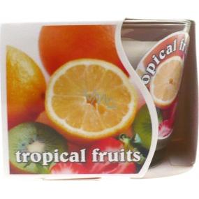 MaP Tropical Fruits aromatická svíčka ve skle 80 g