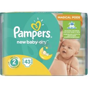 Pampers New Baby Dry 2 Mini 3-6 kg plenkové kalhotky 43 kusů