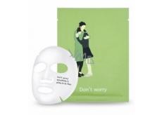 PacKage Dont worry - Bez obav pečující textilní maska na obličej 25 g