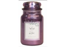 Village Candle Divoký šeřík - Wild Lilac vonná svíčka ve skle 2 knoty 602 g