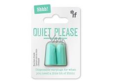 If Ticho prosím, čtu Špunty do uší Mintová