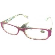 Berkeley Čtecí dioptrické brýle +3,5 plast růžové stranice s obdelníky 1 kus MC2084