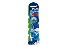 Disney Šmoula měkký kartáček na zuby s krytkou pro děti