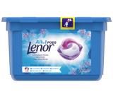 Lenor All in1 Pods Spring Awakening vůně jarních květin, pačuli a cedru gelové kapsle na praní bílého prádla 13 kusů