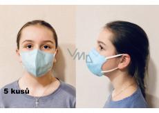 Crdlight Respirátor FFP2 obličejová maska pro děti světle modrá 5 kusů