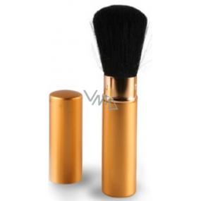 Diva & Nice Kosmetický štětec vysouvací s krytkou zlatý velký 1 kus