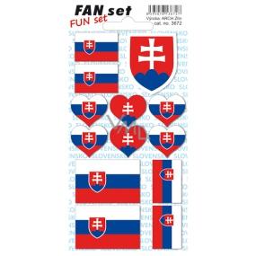 Arch Tetovací obtisky na obličej i tělo Slovenská republika vlajka 8 x 15 cm 1 kus