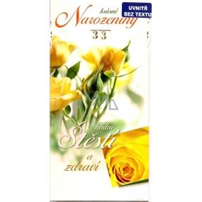 Nekupto Přání k narozeninám žluté růže