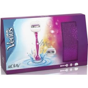 Gillette Venus & Olay holící strojek s hlavicí + náhradní hlavice 1 kus + taštička, kosmetická sada pro ženy