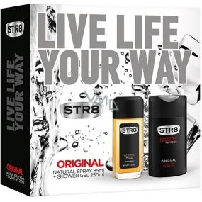 Str8 Original parfémovaný deodorant sklo pro muže 85 ml + sprchový gel 250 ml, kosmetická sada