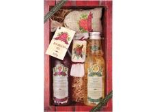 Bohemia Gifts & Cosmetics Wine Spa Vinná kosmetika Hroznový olej a extrakt z vinné révy sprchový gel 200 ml + šampon na vlasy 200 ml + mýdlo 30 g + sůl do koupele v sáčku 150 g, kosmetická sada