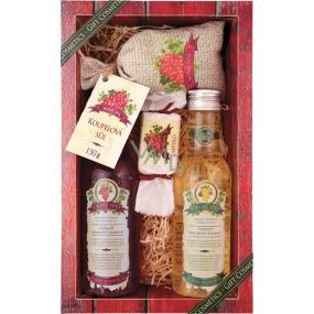 Bohemia Vinná kosmetika Wine Spa Hroznový olej a extrakt z vinné révy sprchový gel 200 ml + šampon na vlasy 200 ml + mýdlo 30 g + koupelová sůl v sáčku 150 g, kosmetická sada