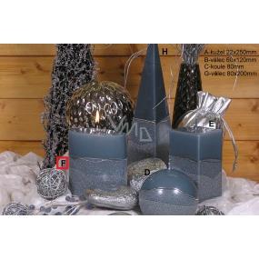 Lima Artic svíčka šedá elipsa 110 x 125 mm 1 kus