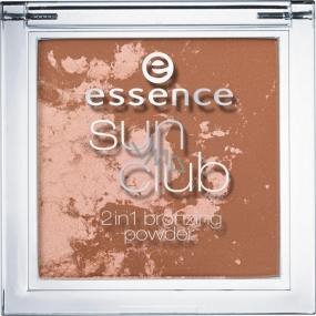 Essence Sun Club 2v1 Bronzing Powder bronzový pudr 10 Sunshine 10 g