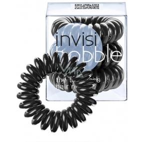 Invisibobble True Black Sada Gumička do vlasů černá spirálová 3 ks