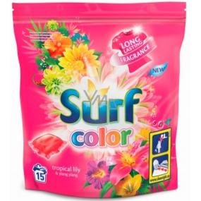 Surf Color Tropical Lily & Ylang Ylang 2v1 kapsle na praní barevného prádla 15 dávek