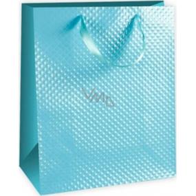 Ditipo Dárková papírová taška střední tyrkysová 18 x 10 x 22,7 cm DC