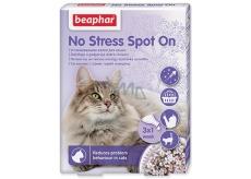 Beaphar No Stress Pipeta pro uklidnění, odstranění stresu, úzkosti kočka 3 x 0,4 ml