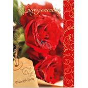 Ditipo Hrací přání k narozeninám Červené růže Milan Chladil Krásné je žít 224 x 157 mm