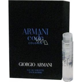 Giorgio Armani Code Colonia toaletní voda pro muže 1,2 ml s rozprašovačem, vialka