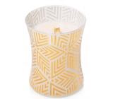 WoodWick White Tea & Jasmine - Bílý čaj a Jasmín vonná svíčka s dřevěným knotem a víčkem sklo střední 275 g Holiday limited 2018