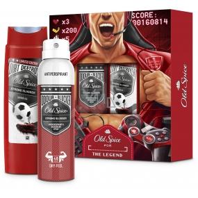 Old Spice Strong Slugger sprchový gel 250 ml + antiperspirant sprej 150 ml, kosmetická sada pro muže