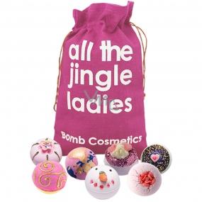Bomb Cosmetics Moderní princezna - All the Jingle Ladies mix balistiků 7 x 160 g, kosmetická sada