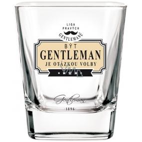 Nekupto Liga Pravých Gentlemanů Whisky sklenička Gentleman je otázkou volby 7 x 7 x 9 cm