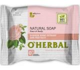 O Herbal Natural Damašková růže a červená hlína přírodní toaletní mýdlo 100 g