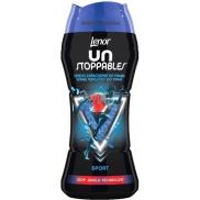 Lenor Unstoppables Sport vonné perličky do pračky dodávají prádlu intenzivní svěží vůni až do dalšího praní 210 g