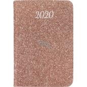 Albi Diář 2020 mini Růžové třpytky 11 x 7,5 x 1 cm